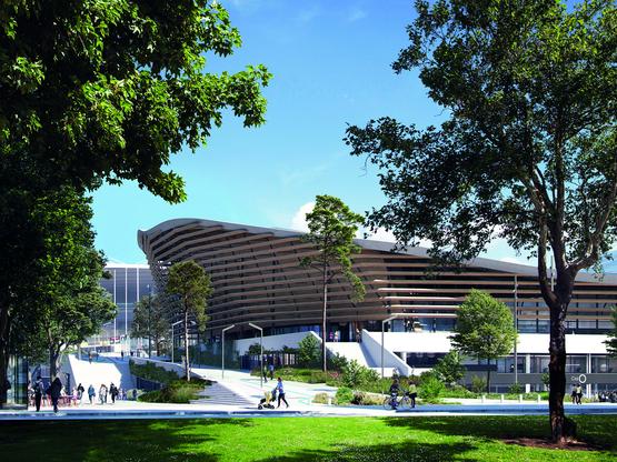 Un projet en bois pour le Centre Aquatique Olympique !