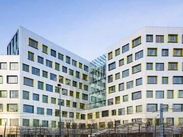 Construction de l'immeuble de bureaux Le Papillon, ZAC Jean Rostand