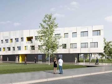 Construction du Laboratoire d'études (LEM3) et de l'unité de formation, Université de Metz