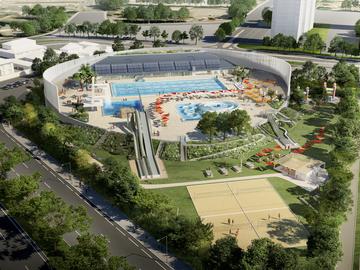 Réhabilitation d'un stade aquatique à Avignon