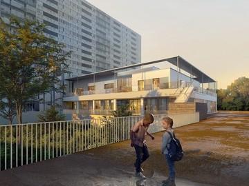 Réhabilitation du Centre socioculturel Guy Toffoletti et création d'une crèche, Bagnolet