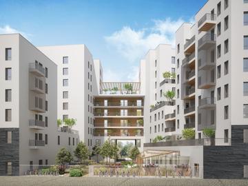 Construction en CLT de 100 logements en R+8