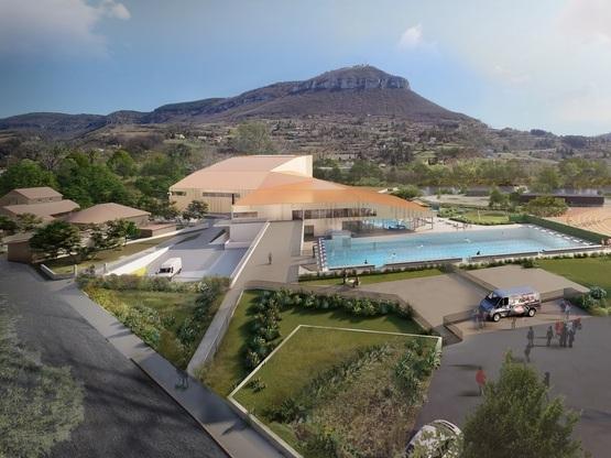 Amoès choisi pour la construction en MPGP d'une piscine et d'une salle d'escalade à Millau !