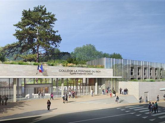 Amoès lauréat pour le MPGP de réhabilitation du collège de Ville d'Avray !