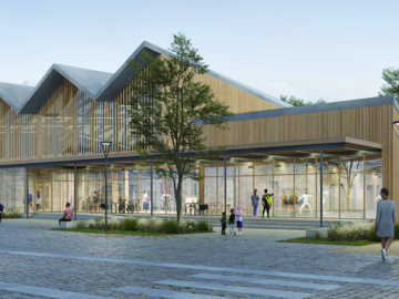 Construction du gymnase Brazza à Bordeaux